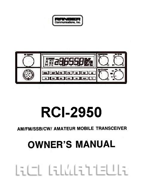 ranger RCI 2950 om ranger manuals rci 2950 mic wiring diagram at alyssarenee.co